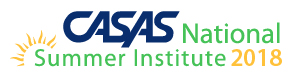 CASAS National Summer Institute 2018 logo
